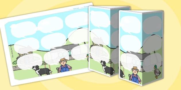 Farm Themed Standing Tabletop Targets - farm, farm themed, table top targets, targets, class targets, themed targets, class management, standing targets