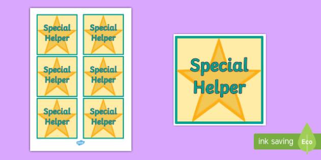 Special Helper Badge - badge, help, special, helper, sign