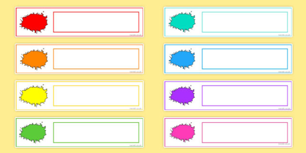 Colour Themed Editable Gratnells Tray Labels - tray label, colour