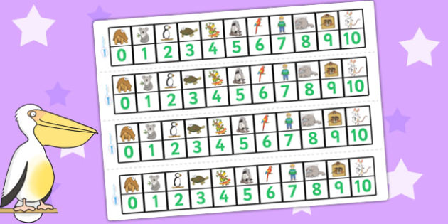 Number Track 0-10 to Support Teaching on The Great Pet Sale - numbers, counting, count