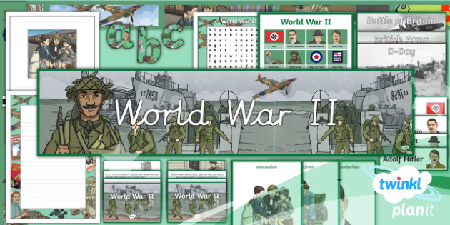 PlanIt - History LKS2 - World War II Additional Resources - second world war, world war two, world war 2, ii, display, 1930s, Britain, 1940s.