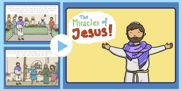 The Miracles of Jesus Bible Stories PowerPoint - usa, america, christianity