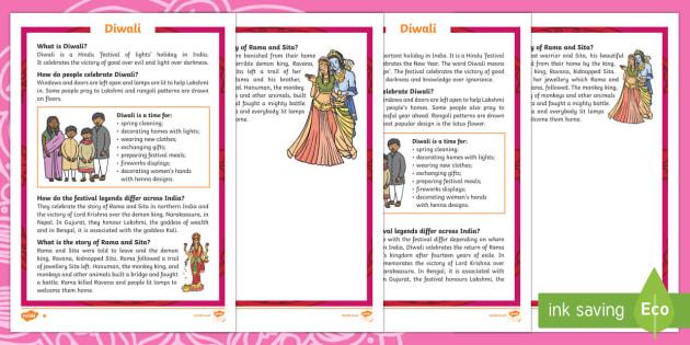 KS1 Diwali Differentiated Fact File