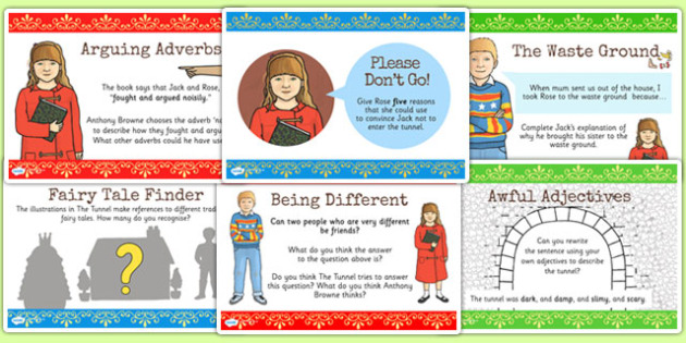 Challenge Posters to Support Teaching on The Tunnel by Anthony Browne - tunnel, stories