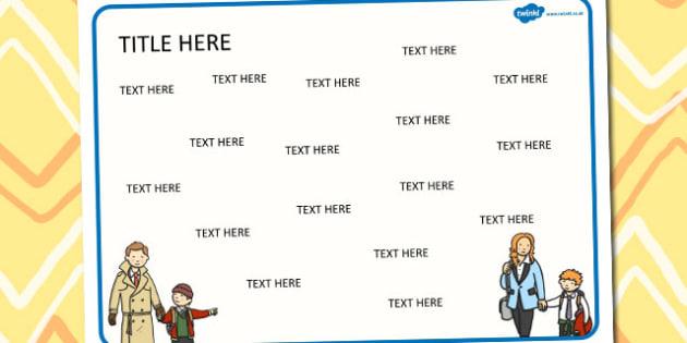 My Senses Themed Editable Word Mat - literacy, words, writing