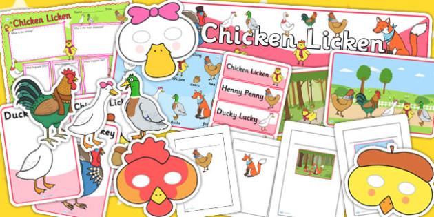 Chicken Licken Story Sack - story books, stories, chicken licken