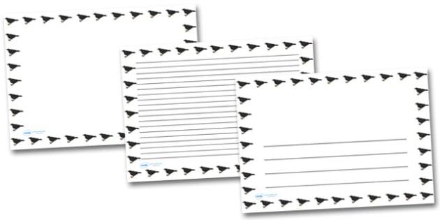 Blackbird Landscape Page Borders- Landscape Page Borders - Page border, border, writing template, writing aid, writing frame, a4 border, template, templates, landscape