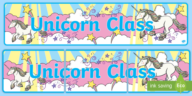 Unicorn Themed Classroom Display Banner - Themed banner, banner, display banner, Classroom labels, Area labels, Poster, Display, Areas