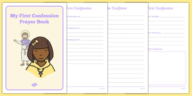 Sacrament of Confession Prayer Book Template - confession, prayers, posters, religion, ireland, republic, roi, irish, confess