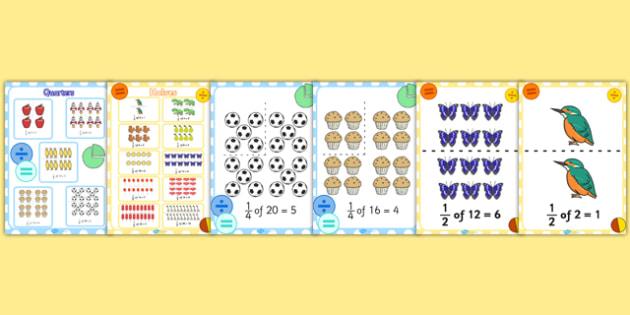 Fractions Display Pack KS1 Year 1 - fractions, display pack, ks1, year 1