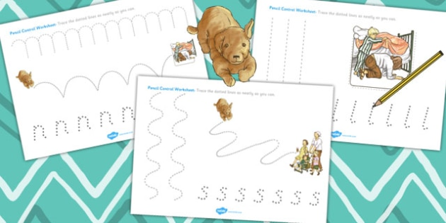 Pencil Control Sheets to Support Teaching on Dogger - worksheets, literacy, skills
