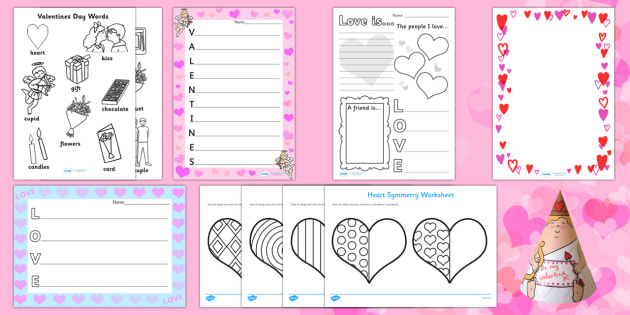 Top Ten Valentine's Day  Activity Pack - Valentine's Day,  Feb 14th, love, cupid, hearts, valentine,