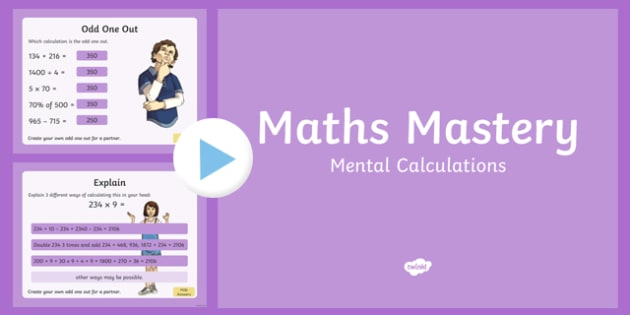 Year 6 Calculation Mental Calculations Maths Mastery
