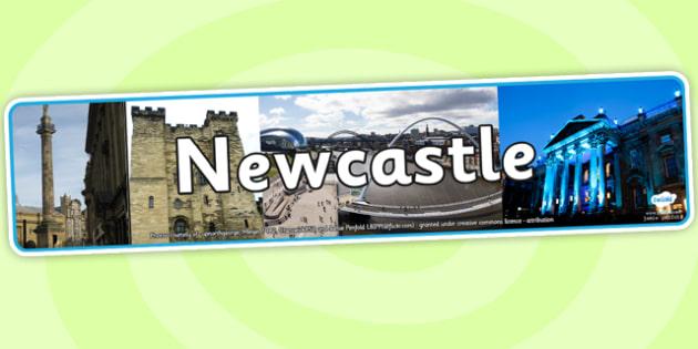 Newcastle Photo Display Banner - newcastle, photo banner, photo display banner, display banner, display header, header, banner, header for display, photos