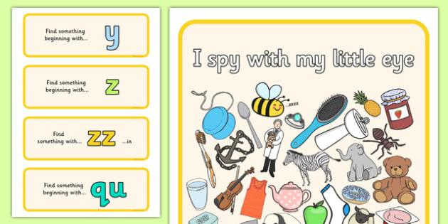 I Spy Phase 3 Set 7 - I Spy, phase 3, activity, game, class, phase, spy, eye