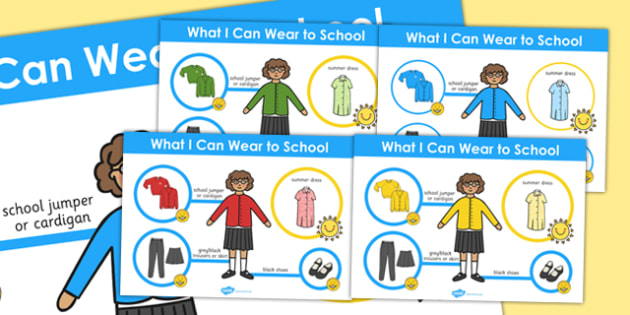 What I Can Wear to School Girls Poster - school girls, poster