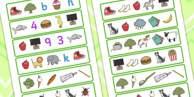 What Two Items Go Together Activity - matching, match, sort