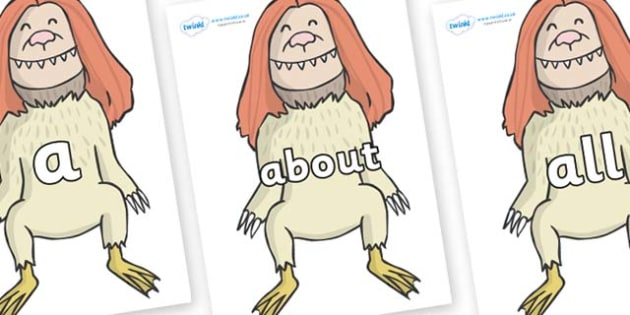 100 High Frequency Words on Wild Thing (2) to Support Teaching on Where the Wild Things Are - High frequency words, hfw, DfES Letters and Sounds, Letters and Sounds, display words