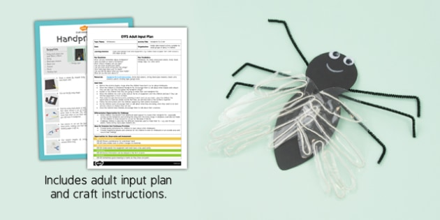 Handprint Fly EYFS Adult Input Plan and Resource Pack - minibeasts, EYFS lesson plan, activity,