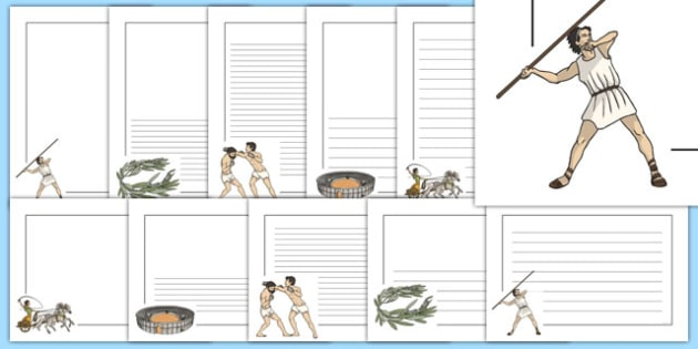Ancient Olympics Page Borders Pack - ancient olympics, pacge borders, pack