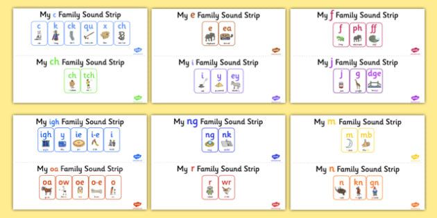 My Sound Family Strip Pack (Dfe Letters and Sounds) - Sound family, AI, alternate spellings, alternate spellings for phonemes, family, sounds, phoneme, phonemes