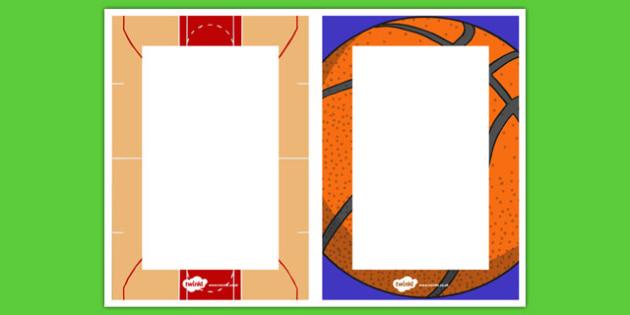 Basketball Themed Editable Notes - basketball, usa, nbl, national basketball league, editable notes, editable, notes, edit