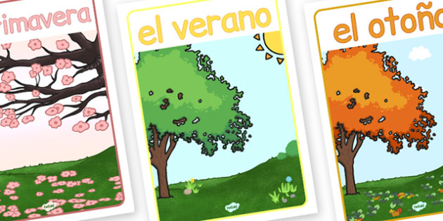 Spanish Season Posters - poster, seasons, displays, display