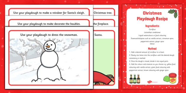 Christmas Playdough Recipe and Mat Pack - christmas, playdough, recipe, mat, pack