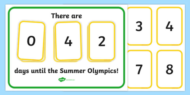 Countdown To The Olympics Display -  The Okympics, countdown, counting down, display, banner, sign, poster, resources, 2012, London, Olympics, events, medal, compete, Olympic Games
