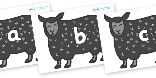 Phase 2 Phonemes on Black Sheep to Support Teaching on Brown Bear, Brown Bear - Phonemes, phoneme, Phase 2, Phase two, Foundation, Literacy, Letters and Sounds, DfES, display