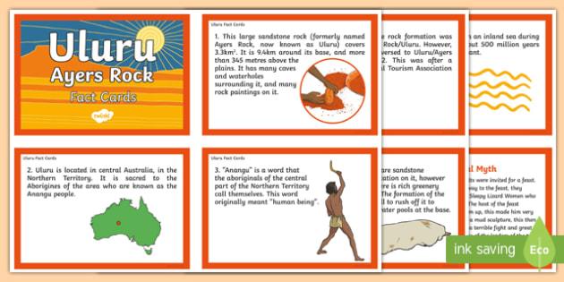 Uluru Fact Cards