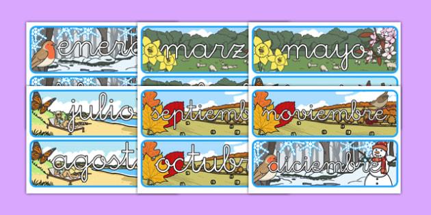 Pósters de los meses y las estaciones del año - año, calendario, decoración, enero, febrero, marzo, abril, mayo, junio, julio, agosto, septiembre, setiembre, octubre, noviembre, diciembre