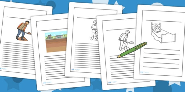The Farmer and His Sons Writing Frames - writing template, write