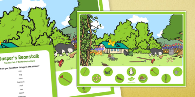 Can you Find...? Poster and Prompt Card Pack to Support Teaching on Jasper's Beanstalk
