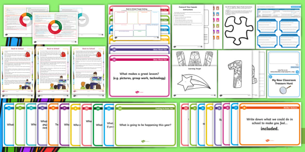 Back to School First Level Resource Pack - new class, back to school, first days activities, new school year, getting to know you, Scottish