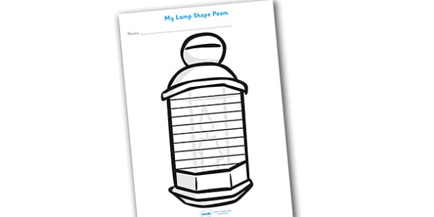Lamp Shape Poetry Template - Lamp Shape Poetry, Lamp Shape