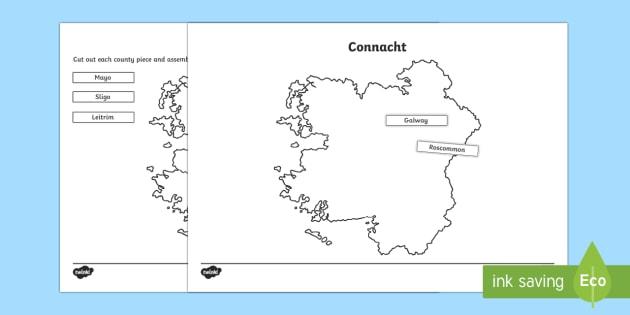 Build Ireland: Connacht Jigsaw Puzzle Activity Sheets