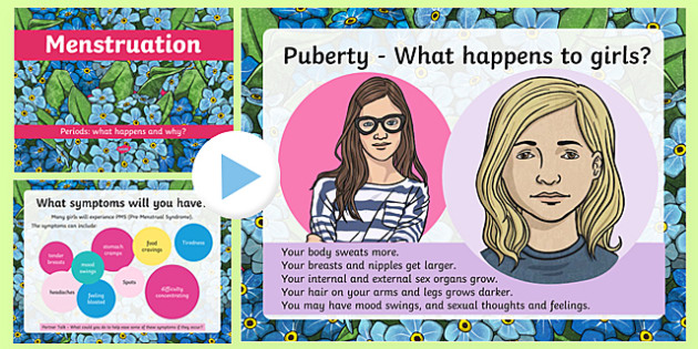 Sex and Relationships Education: Menstruation PowerPoint - sex education