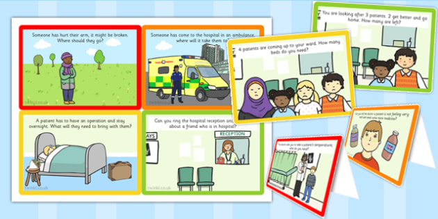 Challenge Cards Hospital Role Play - challenge, cards, hospital