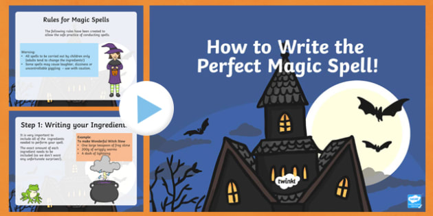 How To Write The Perfect Spell PowerPoint