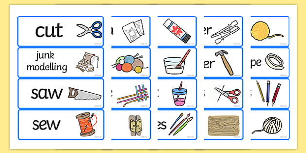 D&T Topic Word Cards - Creative Area, Design Area, Design and technology, art and design, word card, word cards