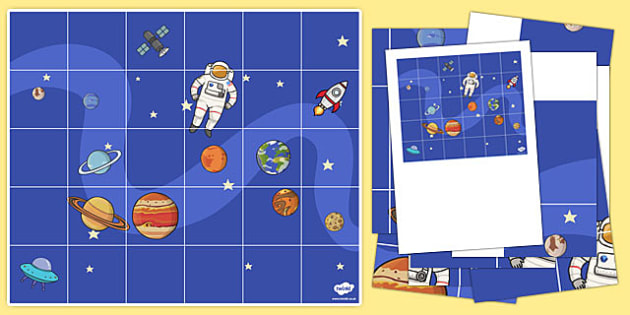 Space Themed Bee-Bot Mat - programming, computing, patterns, robot, bee, bot, topic, science,