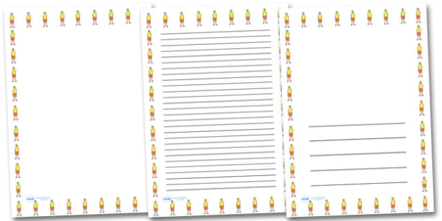 Life Guard Portrait Page Borders- Portrait Page Borders - Page border, border, writing template, writing aid, writing frame, a4 border, template, templates, landscape