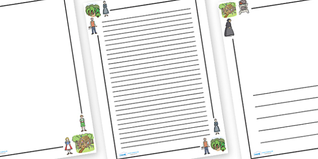 Hansel and Gretel Page Borders - Hansel and Gretel, Brothers Grimm, witch, Hansel, Gretel, gingerbread house, fairytale, traditional tale, woodcutter, forest, story, story sequencing, story resources, Literacy, writing, page border, a4 border, templa