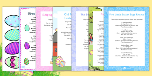 Easter Songs and Rhymes Resource Pack - Easter, song, rhyme, resource pack