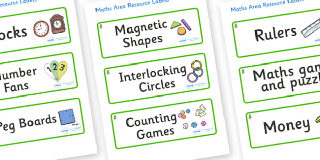 Birch Tree Themed Editable Maths Area Resource Labels - Themed maths resource labels, maths area resources, Label template, Resource Label, Name Labels, Editable Labels, Drawer Labels, KS1 Labels, Foundation Labels, Foundation Stage Labels, Teaching