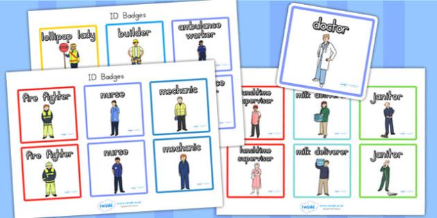 People Who Help Us Role Play Badges - roleplay, role play props