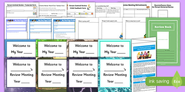 Person Centred Review Pack - person centred review, pack, annual, meeting, meet, resources, review