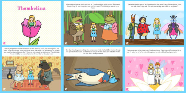 Thumbelina PowerPoint - stories, story books, story powerpoint