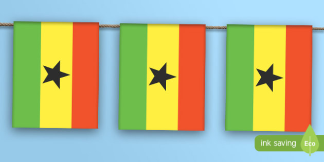 Ghana Flag Bunting - ghana flag, ghana, flag, bunting, display bunting, dispaly